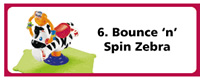 Bounce n Spin Zebra
