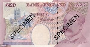 Elgar £20 Banknote