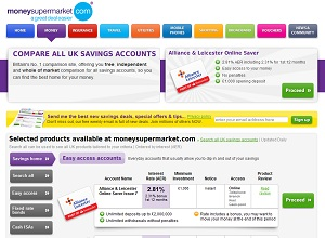 moneysupermarket compare savings review