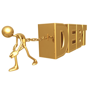 Burdened by debt problems