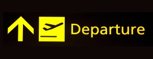 Holiday departure sign