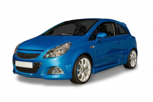New Blue Hybrid Car