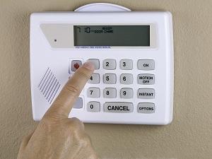 Setting a burglar alarm