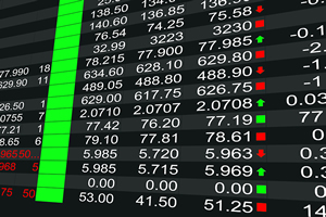spread betting screen with stock prices